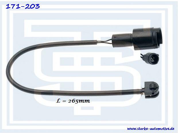 Датчик тормозной BMW E28/E30  передний/задний  L=260mm 34111152607