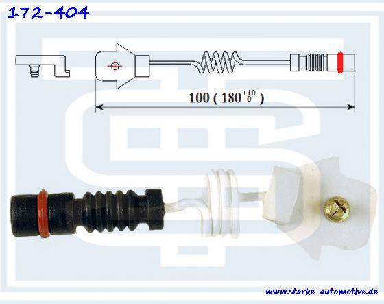 Датчик тормозной MERCEDES W124/W201  передний  L=150mm 2015400317