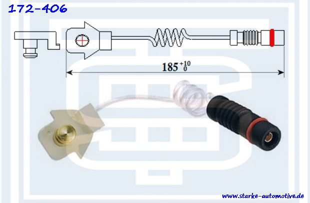 Датчик тормозной MERCEDES W163  передний  --09.2000  L=184mm 1635401317