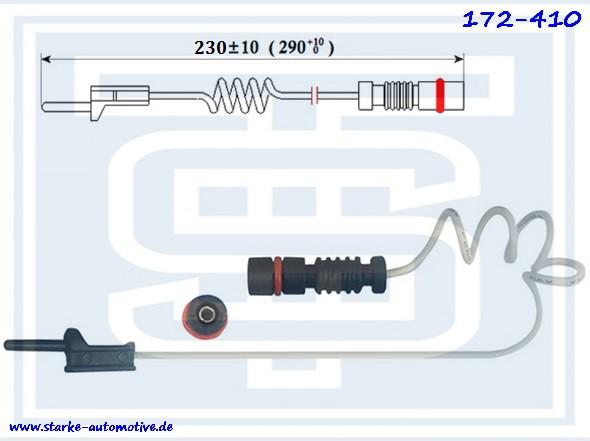 Датчик тормозной MERCEDES T2/VARIO (2,3-D3,0) --02.96  L=230mm  передний 6695400417