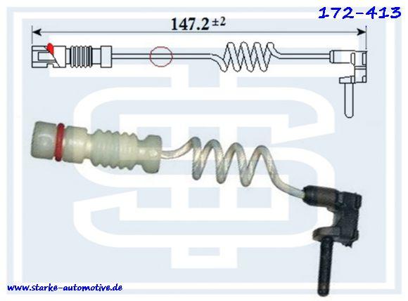 Датчик тормозной MERCEDES W163  задний  09.2000--  L=70mm 2025400717